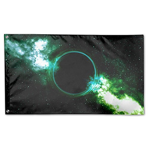 Colby Keats Black Hole Garden Lawn Flags Indoor Outdoor Decoration Home Banner Polyester Sports Fan Flags 3 X 5 Foot ()