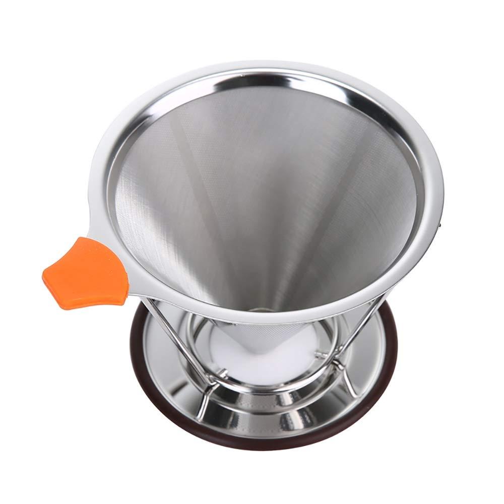 Acquisto Yanchad Filtro Versare sopra La Caffettiera Versatore Permanente Riutilizzabile di caffè Cono in Acciaio Inossidabile con Filtro in Acciaio Inossidabile Gadget Cucina Creativa Prezzi offerta