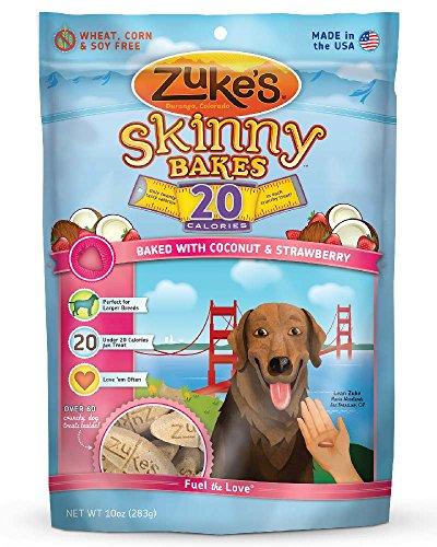 Zuke's Skinny Bakes Dog Treats, Coconut and Strawberry, 20-Calories, 10-Ounce
