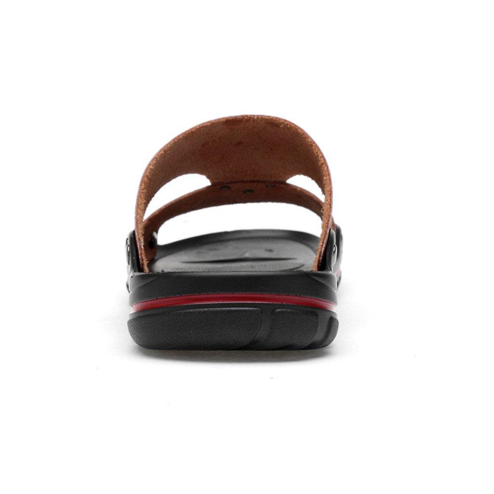 Ying xinguang Herren Flache Slip Ferse weich und atmungsaktiv Slip Flache on Fashion Slipper Braun f1d794