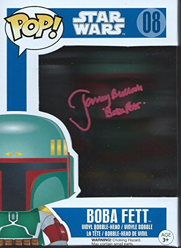 Star Wars Signed Autographed by Jeremy Bulloch as Boba Fett Funko Pop Vinyl Figure (Red Version)