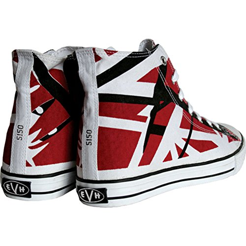 f00a9972fdd32c EVH EDDIE VAN HALEN Burgandy Red HI Top Shoes Sneakers Size 10 NEW   Amazon.ca  Sports   Outdoors