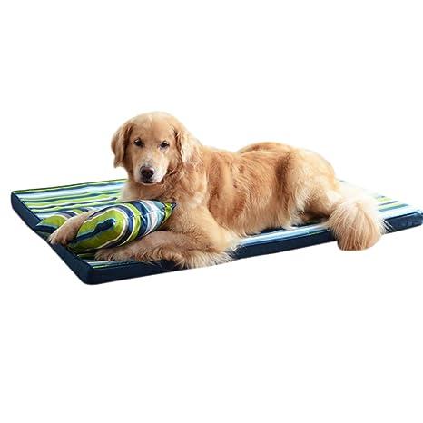 QHD Estera para Perros, Cama para Perros Resistente a Las mordeduras Labrador Kennel en una