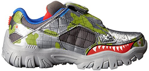 5 Skechers Fille gunmetal Eu game Kicks 33 Damager grey Iii Basses Gris Baskets 13 w7rwAWq1