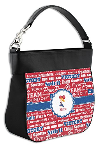 Purse w Hobo Genuine Leather Personalized Trim amp; Back Cheerleader Front 7qT5nFF