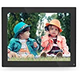 10 Inch Digital Photo Frame, Remote Control, 1024x768 Hi-Res Digital Picture Frame with IPS Panel and Remote Control, Support Picture/Video/Calendar/Clock, 16GB Memory Card Included (Black)