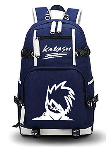 Siawasey Anime Naruto Cosplay Luminous Daypack Backpack Shoulder Bag School Bag (Kakashi1) - Gaara Costume For Kids