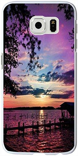 S6 Edge Case, Samsung Galaxy S6 Edge Case purple sky clouds at sunset sea coast