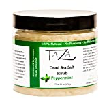 Premium Taza Peppermint Dead Sea Salt Scrub, 473 ml 24 oz (670 g) ♦ Exfoliates Your Skin Leaving it Soft and Hydrated ♦ Contains: Coconut Oil, Shea Butter, Grapeseed Oil, Sweet Almond Oil, 26 Minerals For Sale