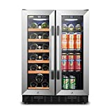 Lanbo Wine and Beverage Refrigerator, Dual Zone
