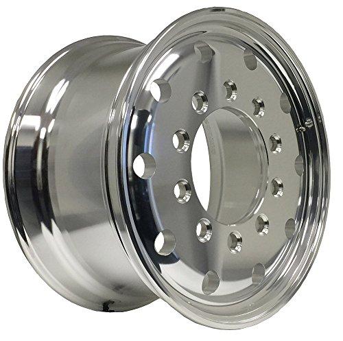 ZXLY 221104 Aluminum Wheels 22.5 x 11.75 Stub Pilot(budd) for dump truck front wheels (Outside Polish Finished-steer wheels)