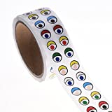 BCP Colorful Eye Sticker Labels -1000 Pair Per Roll