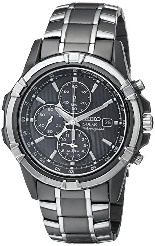 Seiko Men's SSC143 Stainless Steel Solar Watch with Link ...