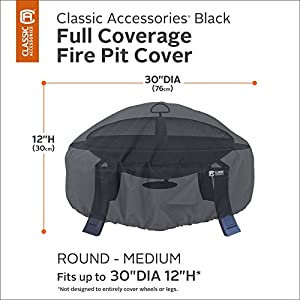 Classic Accessories Water-Resistant 30 Inch Round Fire Pit Cover