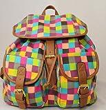 Damas Damas impresión mochila de lona múltiples
