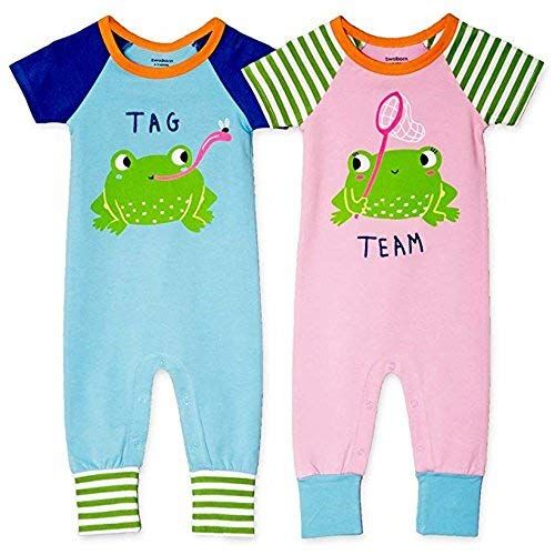 Twoborn Twin Clothing Tag Team Size 3-6 Months Pink Blue