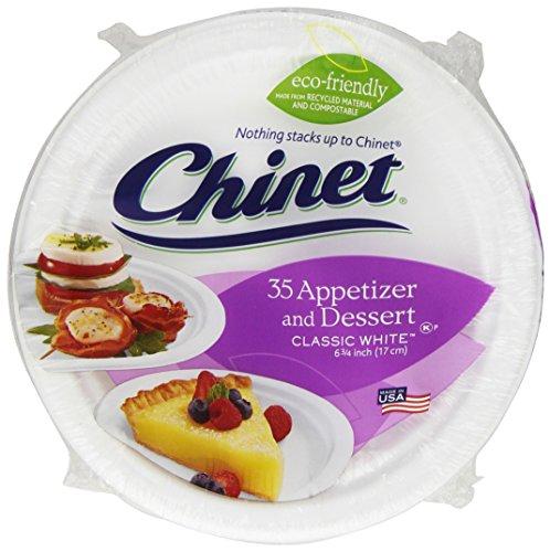 Chinet Classic White Dessert Plates, 35 ct