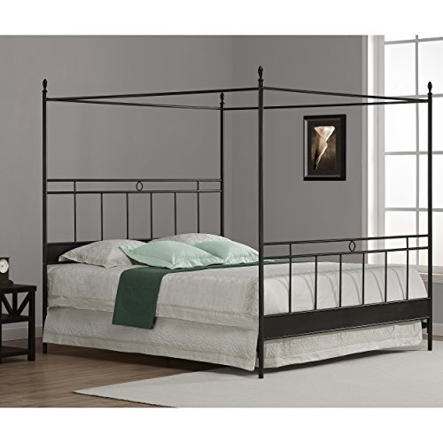 King Canopy Bed Frame (Metro Shop Cara King Metal Canopy Bed-Cara King Metal Canopy Bed)