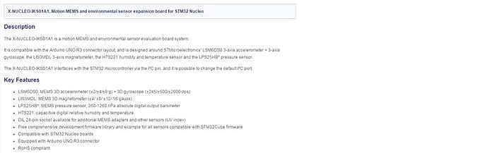 Amazon com: Waveshare X-NUCLEO-IKS01A1 Motion MEMS and Environmental