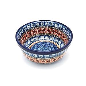 Polish Pottery Bowl – Soup and Salad – Aztec Sun