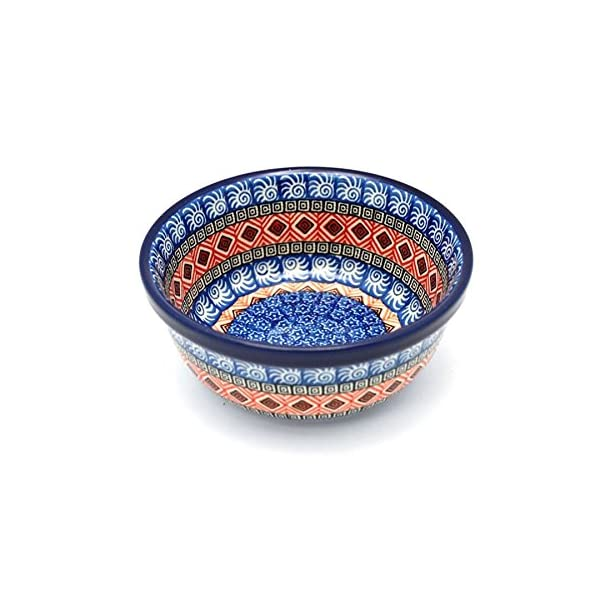 Polish Pottery Bowl – Soup and Salad – Aztec Sun