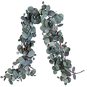 Woooow Artificial Greenery Garland Faux Silk Eucalyptus Vines 22