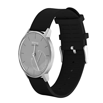 Aisun Silicone Rubber Fitness Waterproof Wrist Strap 18mm Width Quick Release for Huawei Watch, Withings Activite/Steel/Pop Activity Tracking Watches ...