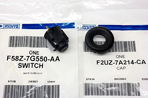 Ford Transmission Overdrive Lockout Switch Gear Shifter Button & Cap Bezel OEM