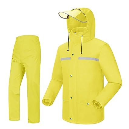 meet 2883d e940a LAXF- Tuta da Pioggia per Uomo Abbigliamento Impermeabile ...
