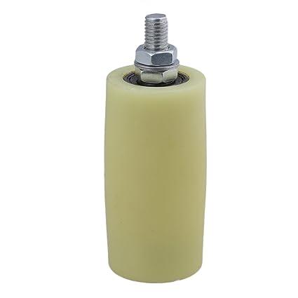BQLZR amarillo plata de PP Rueda de acero soporte de rodamiento de rodillo guía 6201 M12