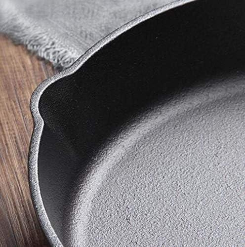 DUDDP Poêle Cuisine Poêle à induction Poêle à frire Poêle à frire Poêle à frire Poêle antiadhésive Vaisselle de cuisson en fonte 22cm Manche en bois Poêle à crêpes non revêtue