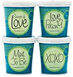 Sweethearts or Love Ice Cream Gift - Gourmet Handcrafted eCreamery Premium Ice Cream 4 pack