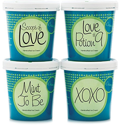 Sweethearts or Love Ice Cream Gift - Gourmet Handcrafted eCreamery Premium Ice...