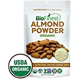 Biofinest Almond Powder - Extra Fine Ground - 100% Pure Antioxidants Superfood - USDA Certified Organic Vegan Raw Non-GMO - Boost Digestion Weight Loss - for Smoothie Beverage (4 oz Resealable Bag)