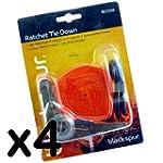 4 Ratchet Tie Down Straps - 2 Vinyl C...