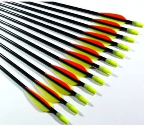 12 Fiberglass Shafts Hunting Targets Practice Training Archery Fibreglass Arrow
