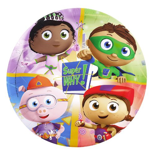 Super Why Party Supplies - Dinner Plates (8)