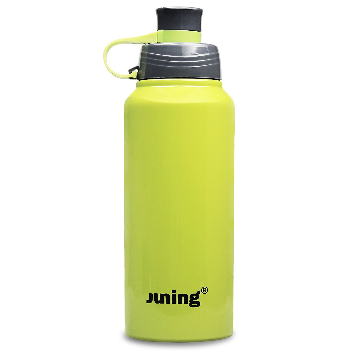 Amazon.com : JUNING Stainless Steel Sports Water Bottle Double Wall ...