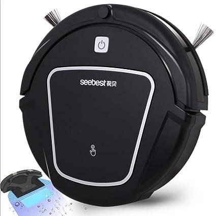 Jackeylove Robot Aspirador 1200 PA succión de bajo Ruido con Control Remoto infrarrojo Ultra-Delgado