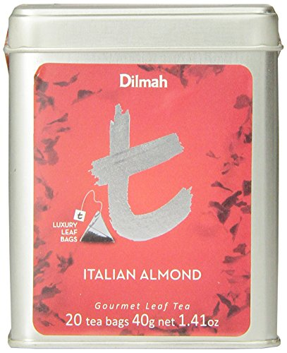 Dilmah Tea, Italian Almond Tea, 20-Count Luxury Leaf (Amaretto Tea Bags)