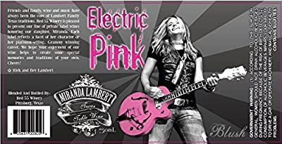 2014 Miranda Lambert Electric Pink White Zinfandel 750 ml Wine