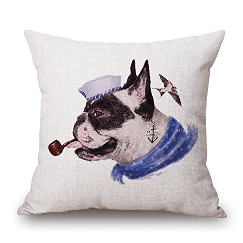 Alphadecor Cushion Cases Of Dog,for Divan,sofa,home,kids Room,coffee House,bedding 20 X 20 Inches / 50 By 50 Cm(each Side)