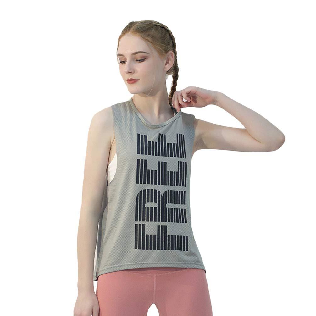 Lvguang Sommer Weibliche Fitness Laufbekleidung Mode Atmungsaktives Mesh Sport Print Yoga Weste