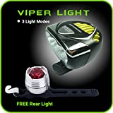 Bike Light Set Front and Back Super Bright LED Headlight 3000 LM 6500 mAh Rechargeable FREE Taillight Best Extreme Bright Multi-Purpose Safety Bicycle Light & Headlamp - WATERPROOF & Easy to Mount