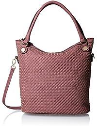 Cutout Woven Bucket Bag