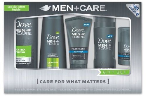 Dove Gift Set For Men + Care 5 Pieces *** Product Description: Dove Gift Set For Men. 5 Piece Set Includes: 1 - 18 Fl. Oz. Extra Fresh Body And Face Wash- With Micromoisture Technology Ultra-Light Formula Delivers Extra Refreshment With A Cooling ***