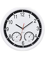 Decter Quartz Stone Clock Silent Wall Clock Accurate Thermometer Humidity Indoor Outdoor Pool Patio