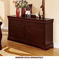 247SHOPATHOME Idf-7815D, dresser, Cherry