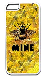 Bee Mine- Soft White Rubber Snap - On Case -APPLE IPHONE 6 PLUS ONLY Great Quality!