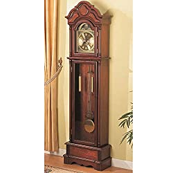 Simple Relax 1PerfectChoice Traditional Grandfather Clock Floor Westminster Pendulum Chimes Brown Red Wood